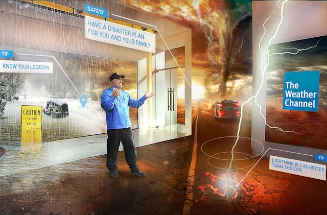 The Weather Channel's mixed reality broadcasts debut tomorrow