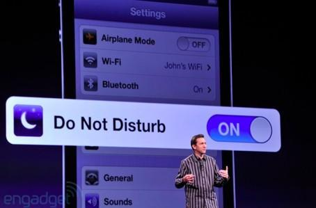 Phone app in iOS 6 gets additional answering options, adds Do Not Disturb