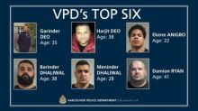 Vancouver police identify 6 known gangsters considered risks to the general public