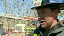 Brush fire ignites Saugus home during red flag warning