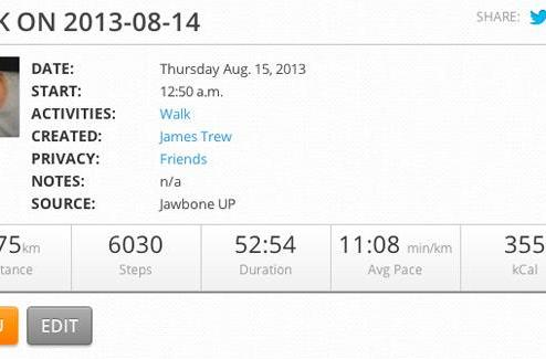 MapMyFitness improves Jawbone UP integration, adds Nike FuelBand support