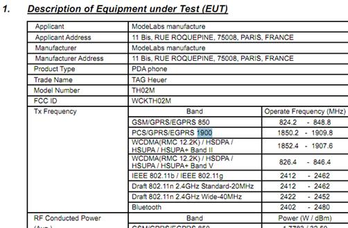 TAG Heuer TH02M smartphone hits the FCC, is appalled by the service