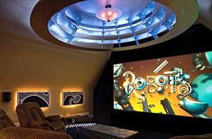 Home theater installation includes rotating seats
