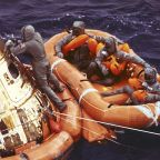 USS Hornet crew members relive historic recovery of Apollo 11 astronauts
