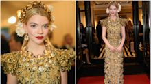Jaque a la moda: los looks más extravagantes de Anya Taylor-Joy, la estrella de 'Gambito de dama'