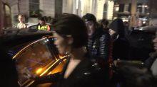 Fans mob Gemma Arterton at pre Bafta awards dinner