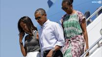 Obama Hits The Golf Course In Martha's Vineyard