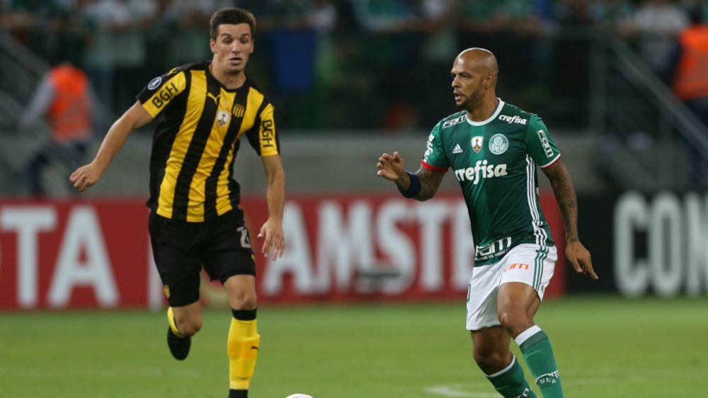 Verdão defende retrospecto positivo em 10º reencontro com o Peñarol pela Libertadores