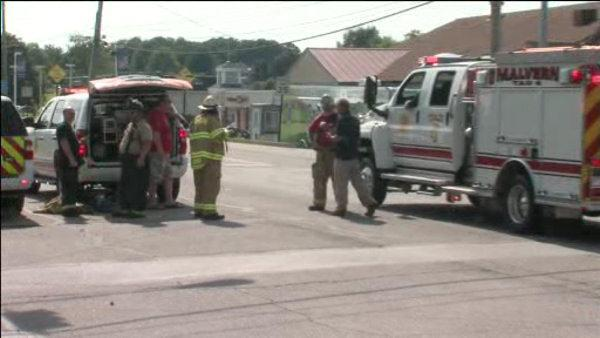 Leak causes large gasoline spill off Route 30