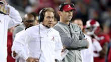 Alabama started spring practice Tuesday and Nick Saban was fired up