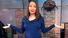 Pregnant news anchor tells viewers to 'chill' after receiving comments about her weight