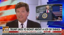 Tucker Carlson says Trump is 'a full-blown BS artist'