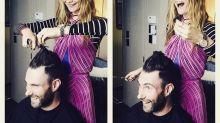 Adam Levine's New Hair Stylist Is... Behati Prinsloo