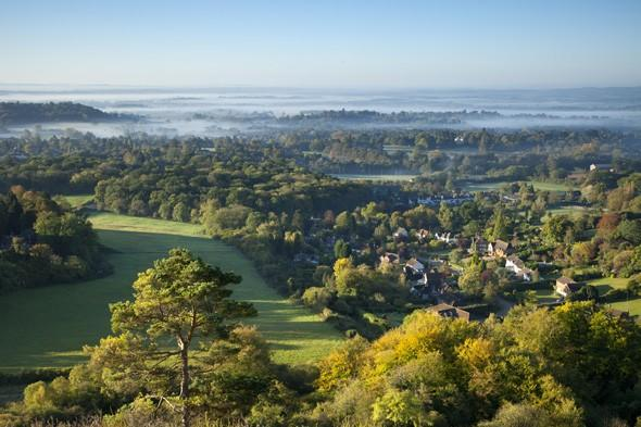 The leafy towns of Reigate and Banstead have a total income tax bill of £7,000 per person.