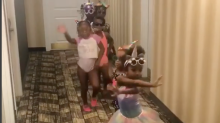 Video of adorable girl squad sashaying through a Washington, D.C., hotel goes viral