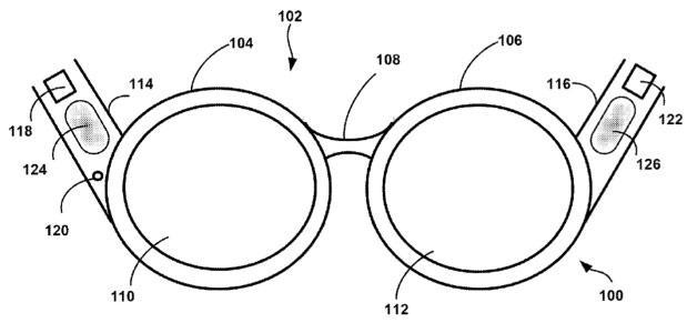 Google patent application reveals Glass-like device with bone-conduction audio
