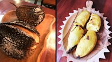 New cafe in Singapore bakes whole durians, shell and all