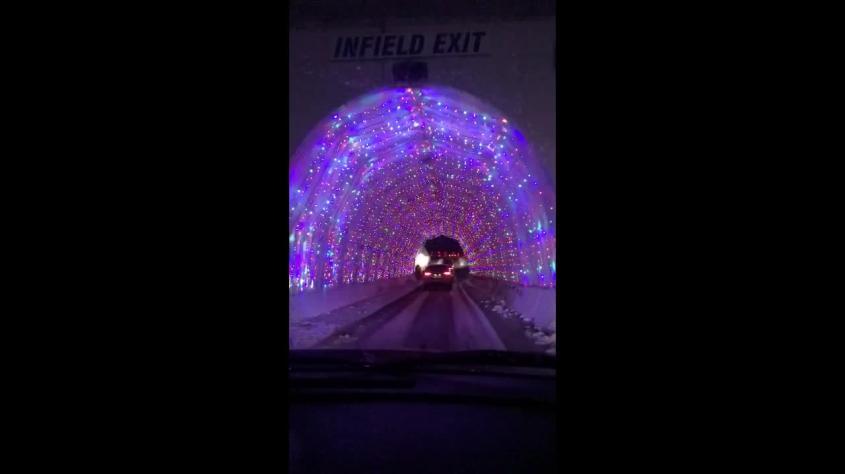 lights is a festive treat for motorists