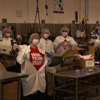 Trump tours Maine medical swab manufacturing plant