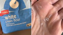 Woman's warning after 'dangerous' find in Coles flour