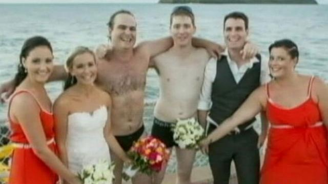 Groomsmen Rescue Fisherman at Sea