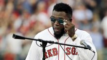 David Ortiz shows emotional side during jersey retirement ceremony