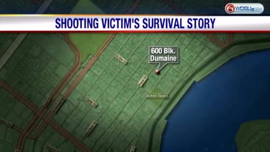 Shooting victim's survival story