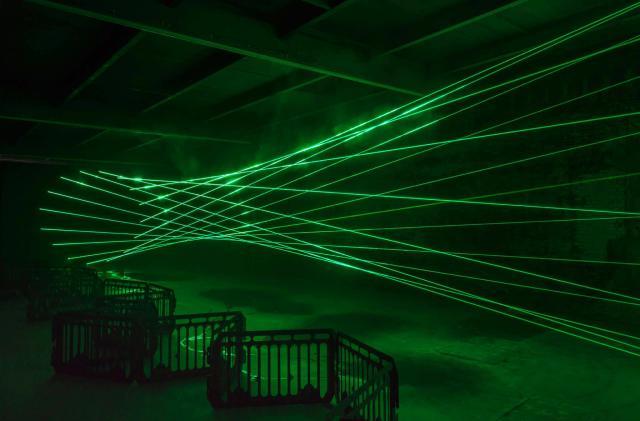 Laser wormhole art is as dazzling as it is dangerous