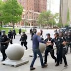 Man, 75, shoved to ground by Buffalo police during protest released from hospital