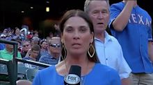 George W. Bush Photobombs a Baseball Reporter, Officially Gives Zero F*cks