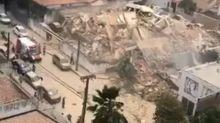 Brasil: se derrumbó un edificio en Fortaleza y hay al menos dos muertos