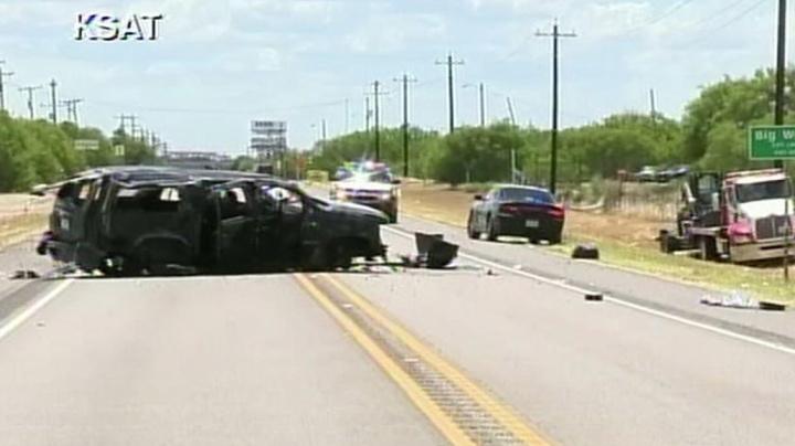 5 dead after SUV fleeing Border Patrol crashes