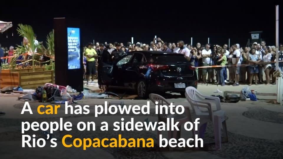 Car Hits Crowd At Brazils Copacabana Killing Baby - Brazil's tallahassee