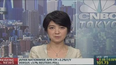 April CPI shows Japan is out of deflation: RBS