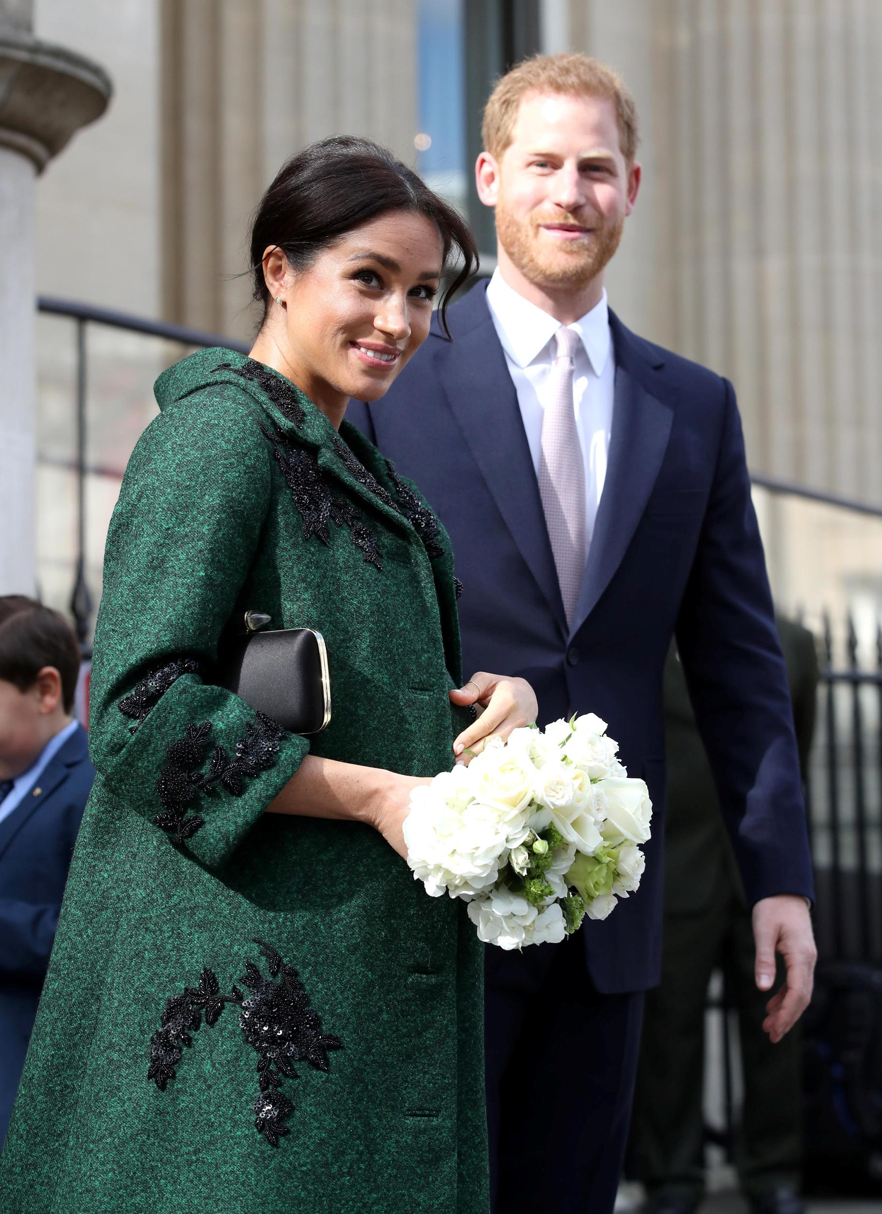 Britain's Prince Harry and Meghan, Duchess of Sussex leave after a Commonwealth Day youth event at Canada House in London, Britain, March 11, 2019. Chris Jackson/Pool via REUTERS