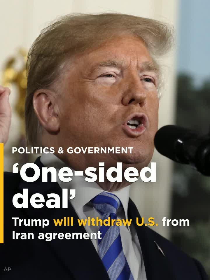 Trump Calls Iran Agreement One Sided Deal Video