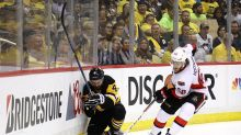 Justin Schultz exits Game 2 after big hit into boards (Video)