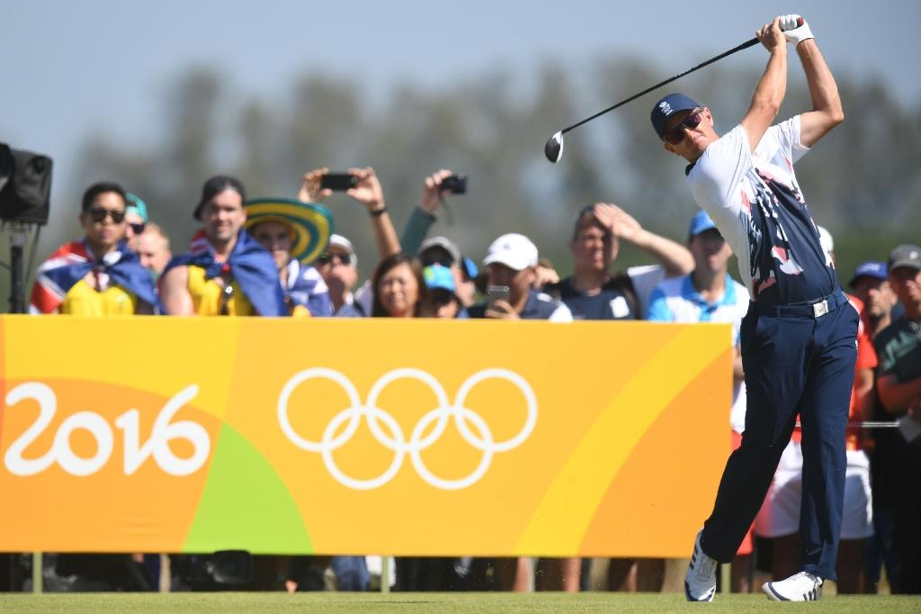 Britain's Justin Rose won the first Olympic men's golf gold for 112 years in Rio (AFP Photo/Jim Watson)