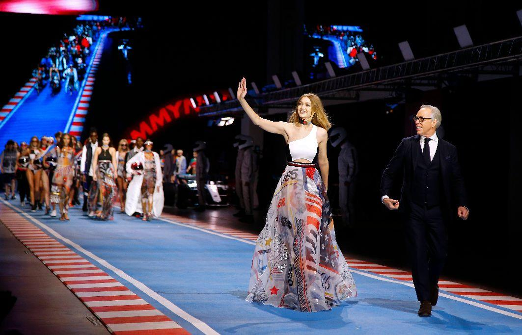f4adefd679fe Gigi Hadid and Tommy Hilfiger Closed Out Milan Fashion Week With a Race  Car-Themed Extravaganza