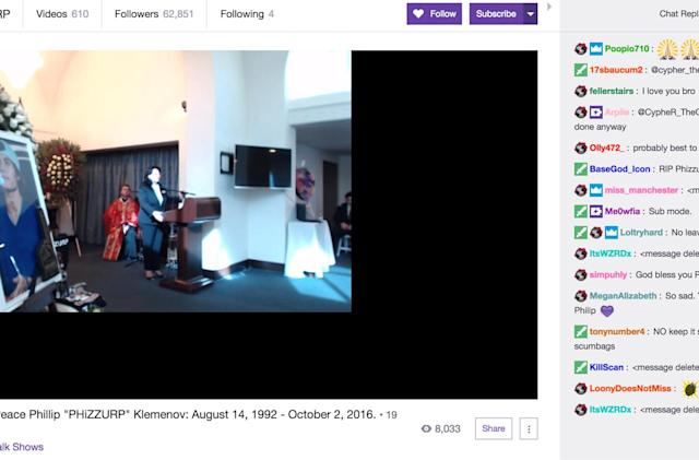 Thousands pay tribute to famous Twitch gamer in live funeral