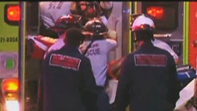 Raw: Man rescued from collapsed garage dies
