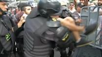 Clashes in Rio on opening day of World Cup