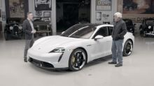 Jay Leno learns all about the Porsche Taycan