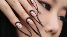 The newest trend in 2017 is apparently hair nails
