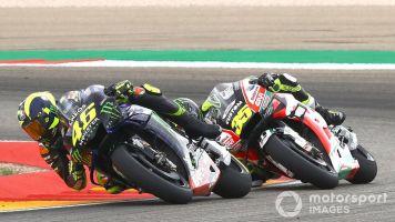 """Rossi: """"Stesso problema delle altre Yamaha, ma 15 giri prima"""""""