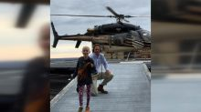 Boy fighting cancer travels to treatment in first-ever helicopter ride