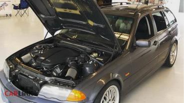 熱血老爸「神改車」!BMW E46五門版「V10缸」羊皮狼式樣