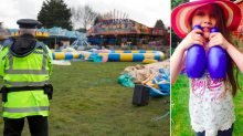 Fairground horror bouncy castle where girl, 7, died 'was packed away before police arrived'
