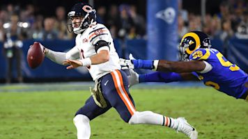 Trubisky terrible, Goff awful in Rams' ugly win