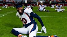 Emmanuel Sanders runs in cleats for the first time since season-ending Achilles injury